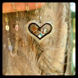 Origmai owl heart locket